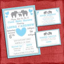 baby shower coed elephant baby shower invitation theme coed couples baby shower set