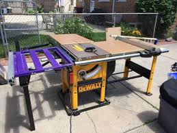 dewalt table saw extension table saw search duffman lumberjocks woodworking dw746 table saw