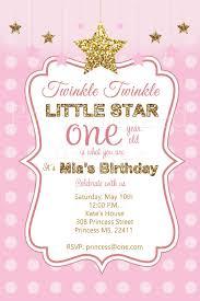 Unique Birthday Invitation Cards Twinkle Little Star Birthday Invitations Themesflip Com