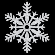 silver glitter snowflake hanging decoration 27 9cm