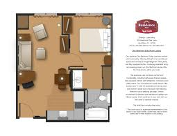 One Bedroom Floor Plan One Bedroom Floor Plan Bedroom Suite Room Layout Architecture