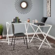 southern enterprises corner desk southern enterprises aaron metal glass l shape corner desk white