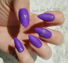 top 55 spectacular purple acrylic nails