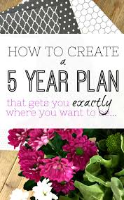 how to create a 5 year plan organising your life step by step