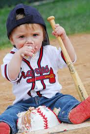 Infant Atlanta Braves Clothes Rhett U0027s First Birthday Photo Shoot Baseball Field Cake Smash
