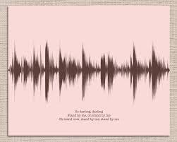 wood wine box custom song or voice art sound wave art