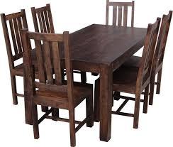 Buy Jaipur Furniture Dakota Walnut Dining Set Large With - Walnut dining room chairs