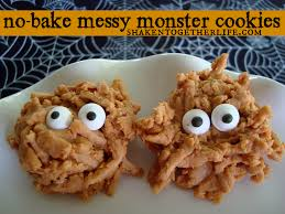 monster list of halloween projects no bake messy monster cookies