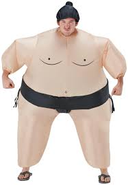 inflatable sumo wrestler costume from costumeexpress com