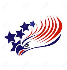 Usa Flag Vector Bald Eagle American Flag Vector Royalty Free Cliparts Vectors