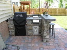 Outdoor Kitchen Granite Countertops Black And White Cushion Chair Granite Countertops Plant Pot