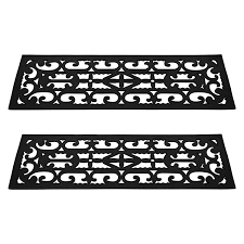 non slip stair tread mats 2 piece by pure garden staircase step
