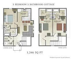 3 bedroom cabin plans floor plan bedroom cottage plans blueprints floor plan apartment