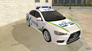 kereta mitsubishi evo sport mitsubishi lancer evolution x pdrm for gta san andreas
