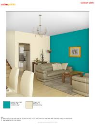hall in bluish with cream combination is customer choice they