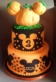 fall halloween pumpkin mickey cake greyson u0027s birthday party