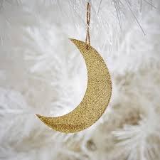 glitter kraft gold moon ornament west elm made from kraft paper