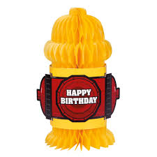 fire truck birthday honeycomb fire truck decoration firefighter