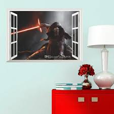 new 50 70cm star wars wall stickers kylo ren spaceship 3d new 50 70cm star wars wall stickers kylo ren spaceship 3d wallpapers wall decals children removable novelty wallpaper for kids room c398 wall sticker deals