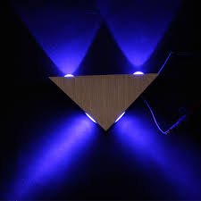 4w led triangle wall light sconce spot metal mood lamp bedroom