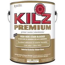 kilz premium 1 gal white water based interior exterior primer