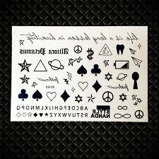 yuran poker temporary tattoo stickers for children kids