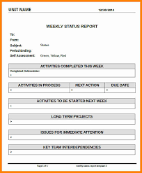 10 weekly project status report template job resumed
