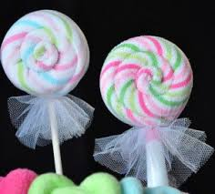 Fake Lollipop Decorations How To Make Lollipop Washcloths For Your Next Baby Shower Baby