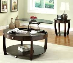 Rustic Coffee Table With Wheels Coffee Tables Dazzling Lift Top Round Dark Brown Design With