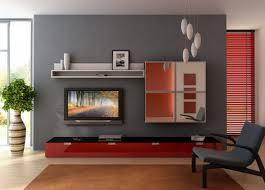 apartment living room ideas brown wooden table floating black tv small apartment living