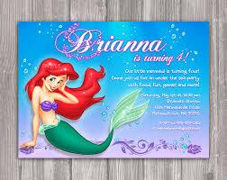 little mermaid birthday invitations plumegiant com