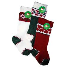 amazon com kurt adler heavy knit stocking 20x6 inch set of 3