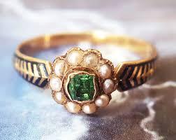 emerald antique rings images Vintage wedding rings etsy jpg