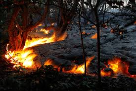 Backyard Volcano Pictures Creeping Lava Consumes Home