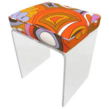 Mid Century Modern Homes For Sale Memphis by Mid Century Modern Emilio Pucci Lucite Vanity Stool For Sale At