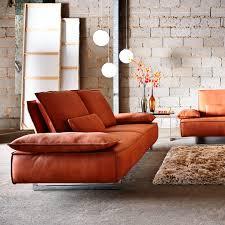 contemporary sofa contemporary sofa leather metal 2 seater pure nola by