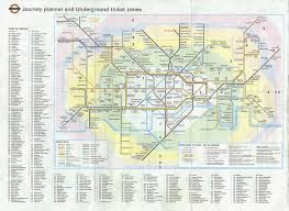 Metro Map Paris Zones by The London Tube Map Archive