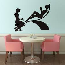 Beautiful Wall Stickers For Room Interior Design Girls Beauty Shop Vinyl Wall Stickers Pedicure Salon Room Self