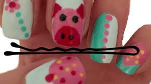 nail art using a bobby pin five easy nail art designs youtube