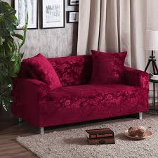 Loveseat Throw Cover Sofa Slipcover Picture More Detailed Picture About Red Wine L