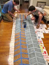 diy painted jute rug mac u0026 marlborough