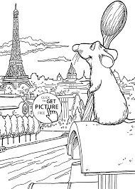 ratatouille paris coloring pages kids printable free