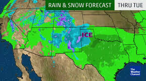 Weather Classic Map Rain And Snow Moves Into Texas Next Week The Weather Channel