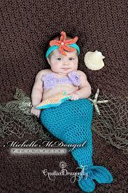 newborn baby mermaid halloween costume 0 to 3 month