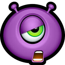 icon halloween alien cyclops emoticon emoticons halloween monster monsters