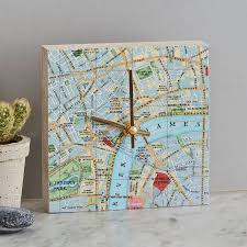 Map Location Personalised Map Location Square Clock By Bombus