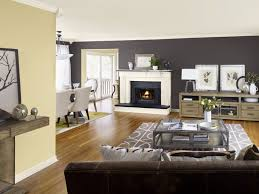 blue wall paint color on modern collection and family room scheme