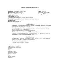 It Technician Job Description Sample Best Photos Of Marketing Intern Job Description Samples