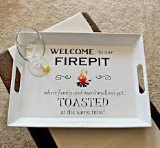 Firepit Signs Craft A Spell Welcome To Our Pit Sign And Tray