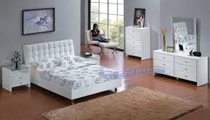 barcelona style white leather match king bed u2013 padstyle interior